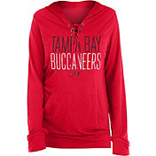 New Era Women's Tampa Bay Buccaneers Lace Hood Red Long-Sleeve Shirt