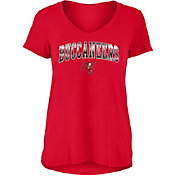 New Era Women's Tampa Bay Buccaneers Red Foil V-Neck T-Shirt