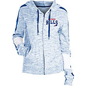 NFL Team Apparel Women's Buffalo Bills Space Dye Full-Zip Hoodie