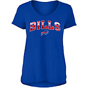 New Era Women's Buffalo Bills Blue Foil V-Neck T-Shirt