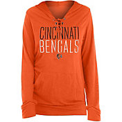 New Era Women's Cincinnati Bengals Lace Hood Orange Long-Sleeve Shirt