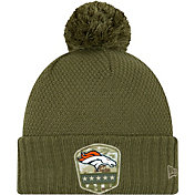 New Era Women's Salute to Service Denver Broncos Olive Cuffed Pom Knit