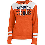 New Era Women's Denver Broncos Tri-Blend Fleece Orange Hoodie
