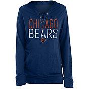 New Era Women's Chicago Bears Lace Hood Navy Long Sleeve T-Shirt