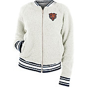 New Era Women's Chicago Bears Sherpa White Full-Zip Jacket