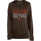 New Era Women's Cleveland Browns Lace Hood Long Sleeve Shirt
