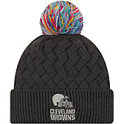 New Era Women's Cleveland Browns Sideline Crucial Catch Graphite Pom Knit