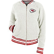 New Era Women's Kansas City Chiefs Sherpa White Full-Zip Jacket