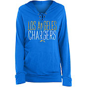 New Era Women's Los Angeles Chargers Lace Hood Navy Long-Sleeve Shirt
