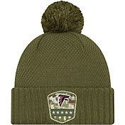 New Era Women's Salute to Service Atlanta Falcons Olive Cuffed Pom Knit