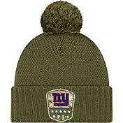 New Era Women's Salute to Service New York Giants Olive Cuffed Pom Knit
