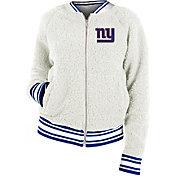 New Era Women's New York Giants Sherpa White Full-Zip Jacket