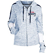 NFL Team Apparel Women's New England Patriots Space Dye Full-Zip Navy Hoodie