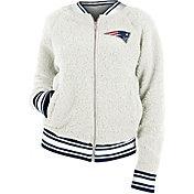 New Era Women's New England Patriots Sherpa White Full-Zip Jacket