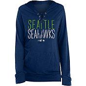 New Era Women's Seattle Seahawks Lace Hood Navy Long Sleeve T-Shirt