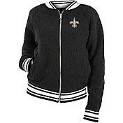 New Era Women's New Orleans Saints Sherpa Black Full-Zip Jacket