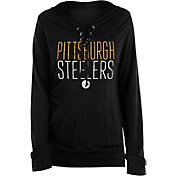 New Era Women's Pittsburgh Steelers Lace Hood Black Long-Sleeve Shirt