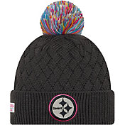New Era Women's Pittsburgh Steelers Sideline Crucial Catch Graphite Pom Knit