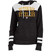 New Era Women's Pittsburgh Steelers Tri-Blend Fleece Black Hoodie