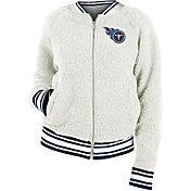 New Era Women's Tennessee Titans Sherpa White Full-Zip Jacket