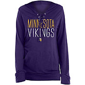 New Era Women's Minnesota Vikings Lace Hood Purple Long Sleeve T-Shirt
