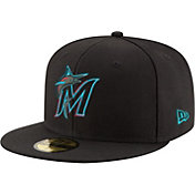 New Era Youth Miami Marlins 59Fifty Game Black Authentic Hat