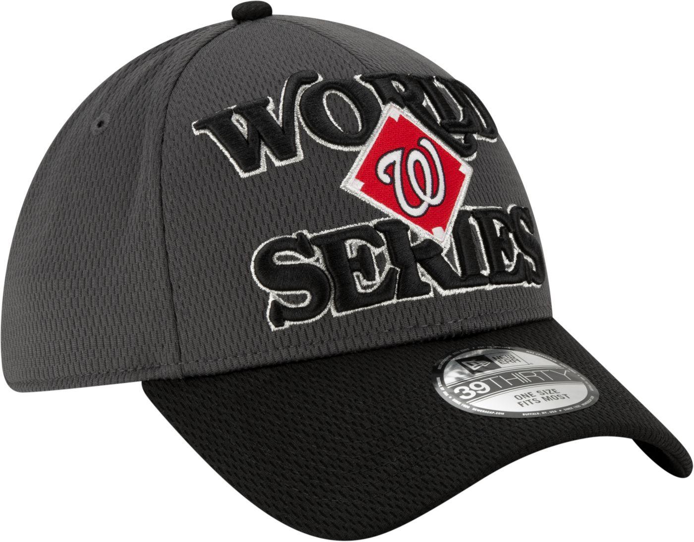 New Era Men's 2019 National League Champions Locker Room 39Thirty Washington Nationals Stretch Fit Hat