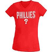 New Era Youth Girls' Philadelphia Phillies Red T-Shirt