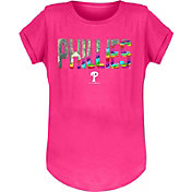 New Era Youth Girls' Philadelphia Phillies Pink Flip Sequins T-Shirt