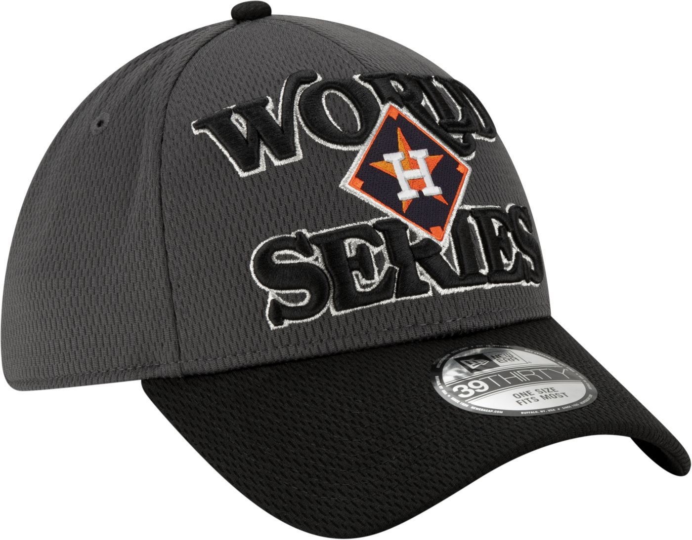New Era Men's 2019 American League Champions Locker Room 39Thirty Houston Astros Stretch Fit Hat