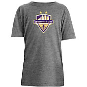 New Era Youth Louisville City FC Logo Heather Grey T-Shirt