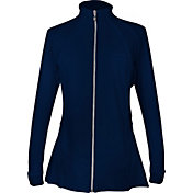 Sofibella Women's Pleated Full Zip Jacket