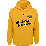 NHL Youth 2020 Winter Classic Nashville Predators Crest Gold Pullover Hoodie