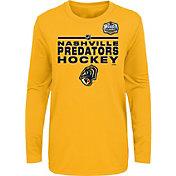 NHL Youth 2020 Winter Classic Nashville Predators Locker Room Gold Long Sleeve Shirt