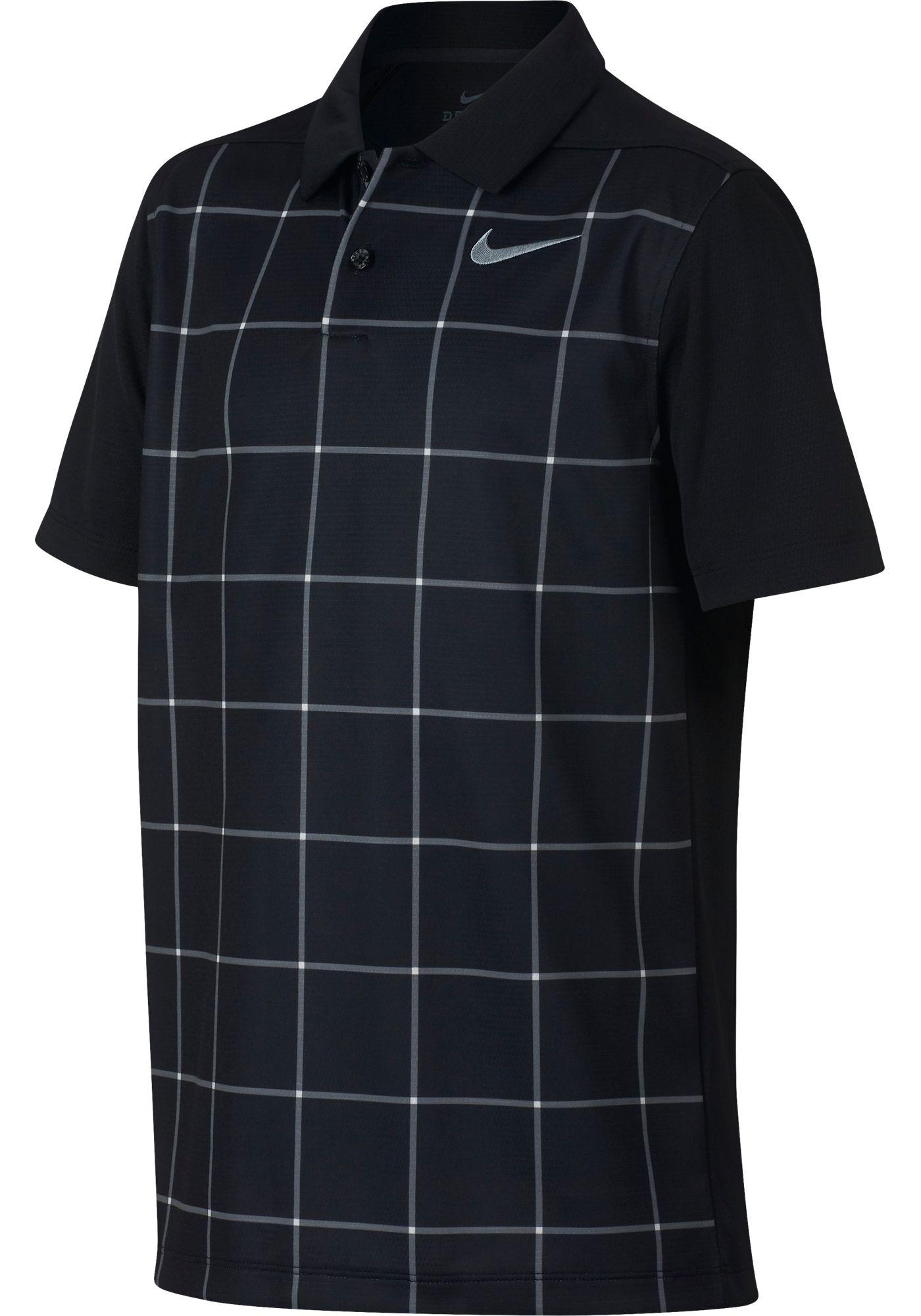 Nike Boys' Dry Grid Print Golf Polo