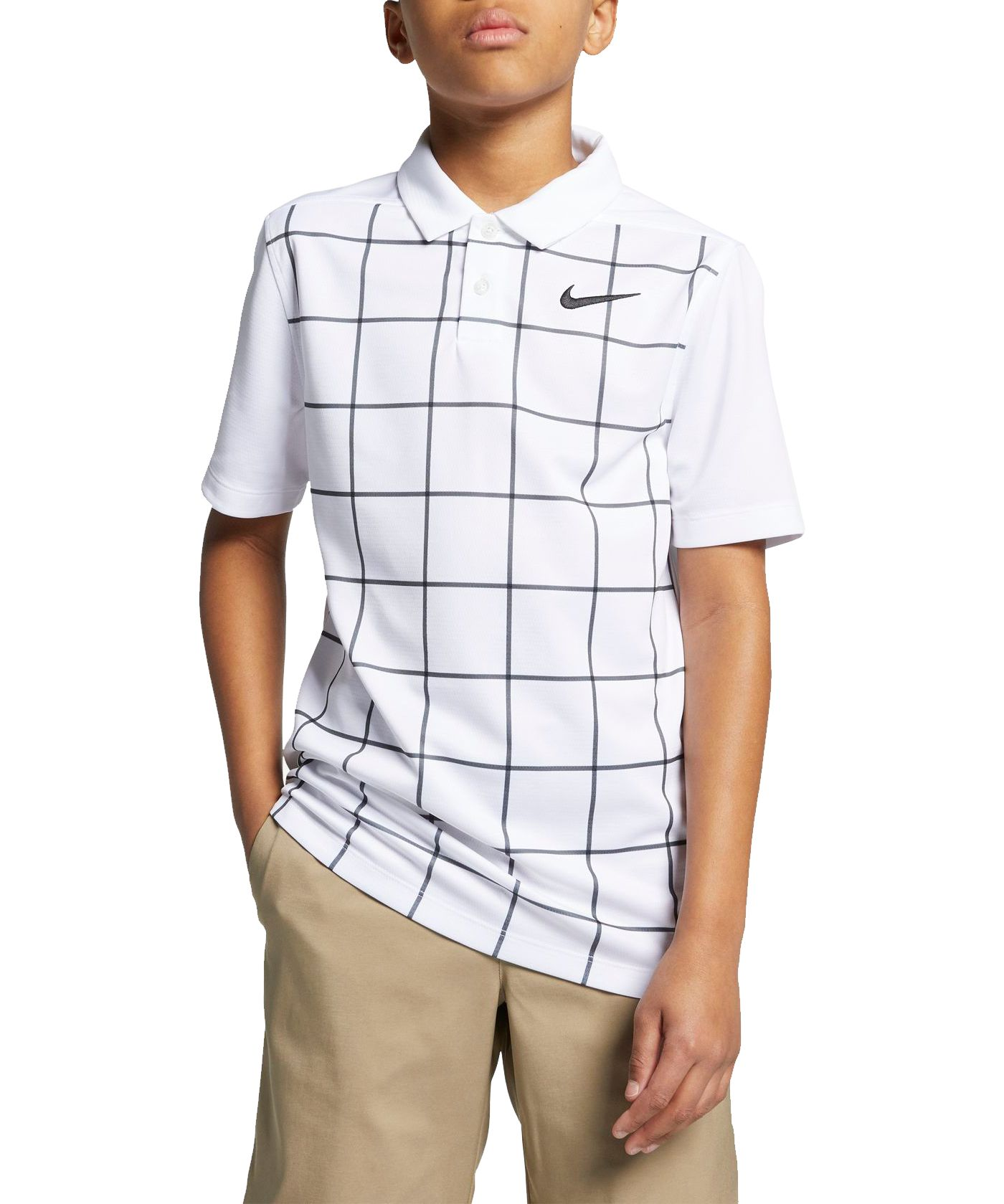 Nike Boys' Dry Grid Print Golf Polo