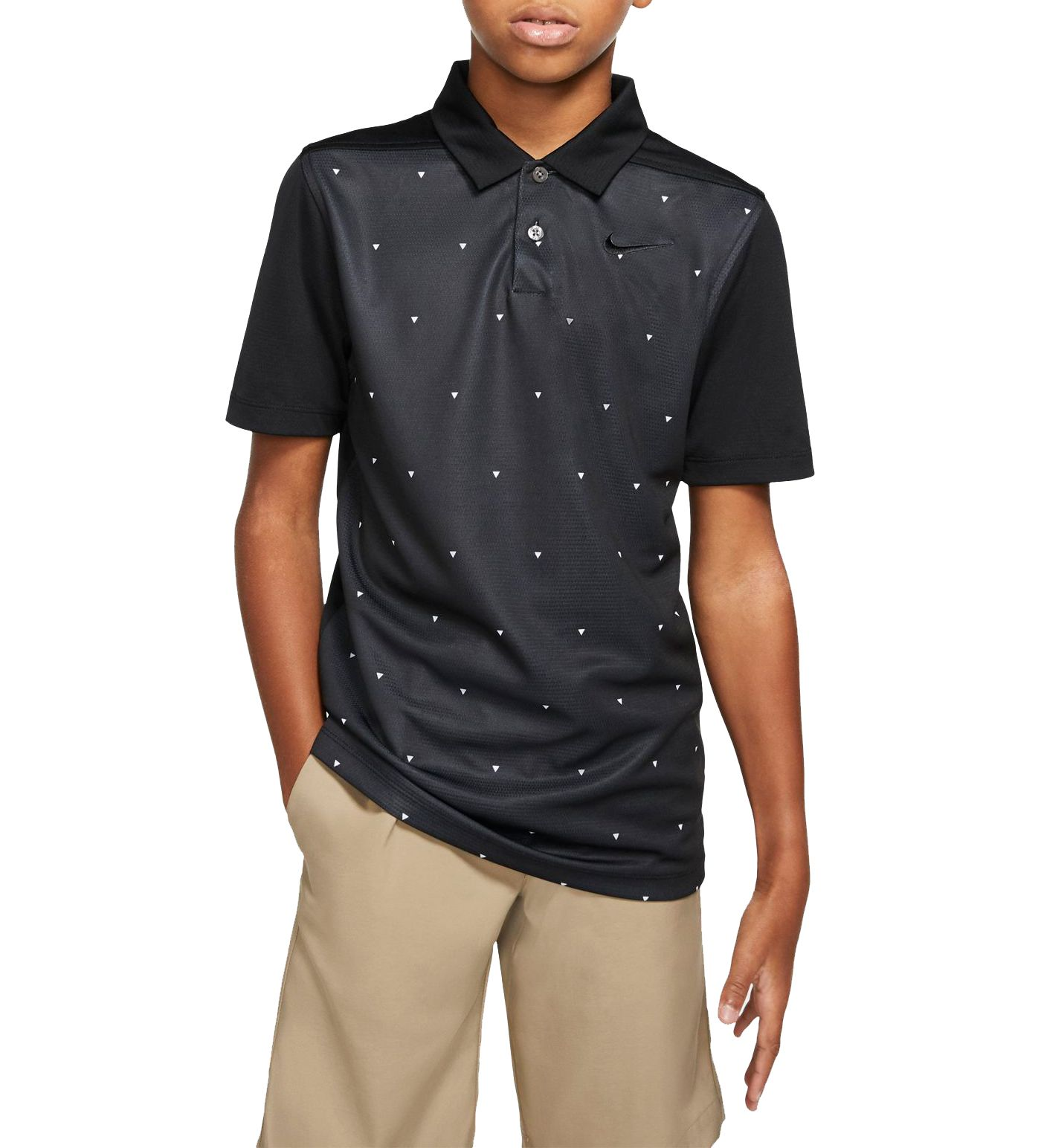 Nike Boys' Triangle Print Dri-FIT Golf Polo