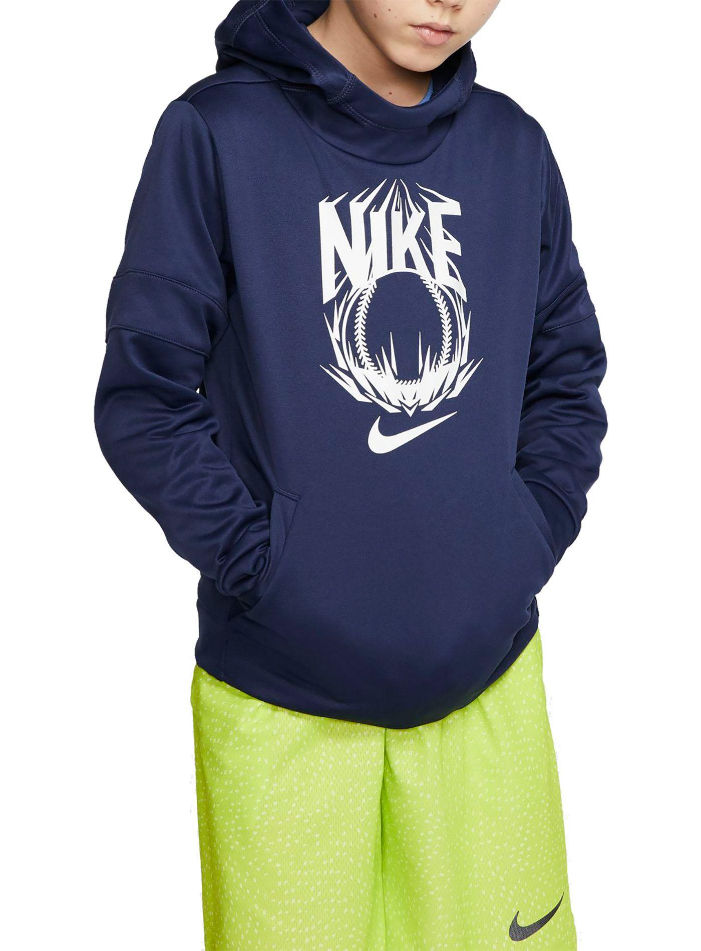 Nike Boys' Therma Pullover Baseball Hoodie