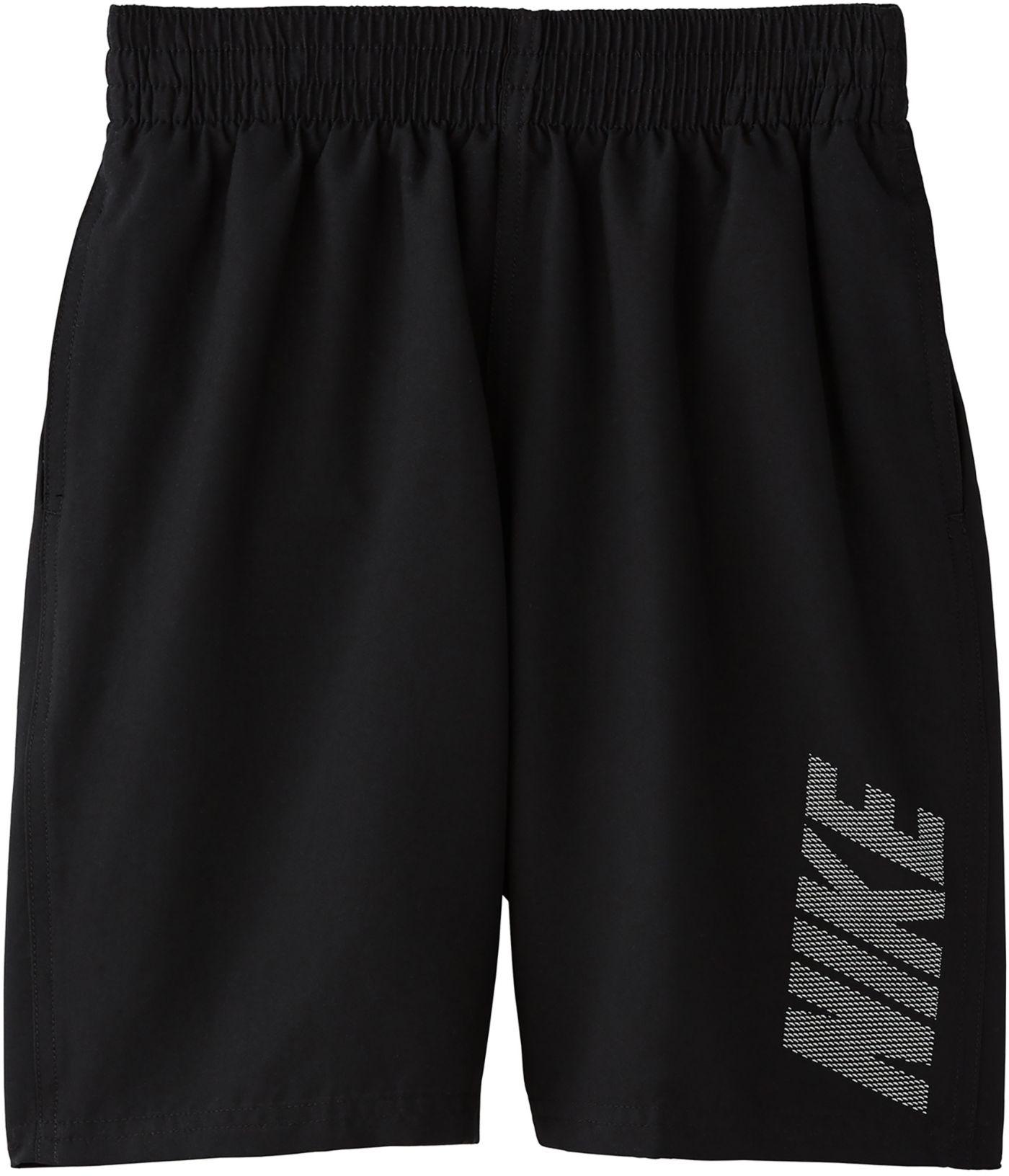 Nike Boys' Logo Solid Volley Swim Trunks
