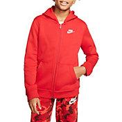 Nike Boys' Sportswear Club Cotton Full Zip Hoodie (Regular and Extended)