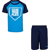 Nike Boys' Baseball Clear Your Plate Graphic T-Shirt and Shorts Set