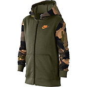 Nike Boy's Sportswear Camo Club Full-Zip Hoodie