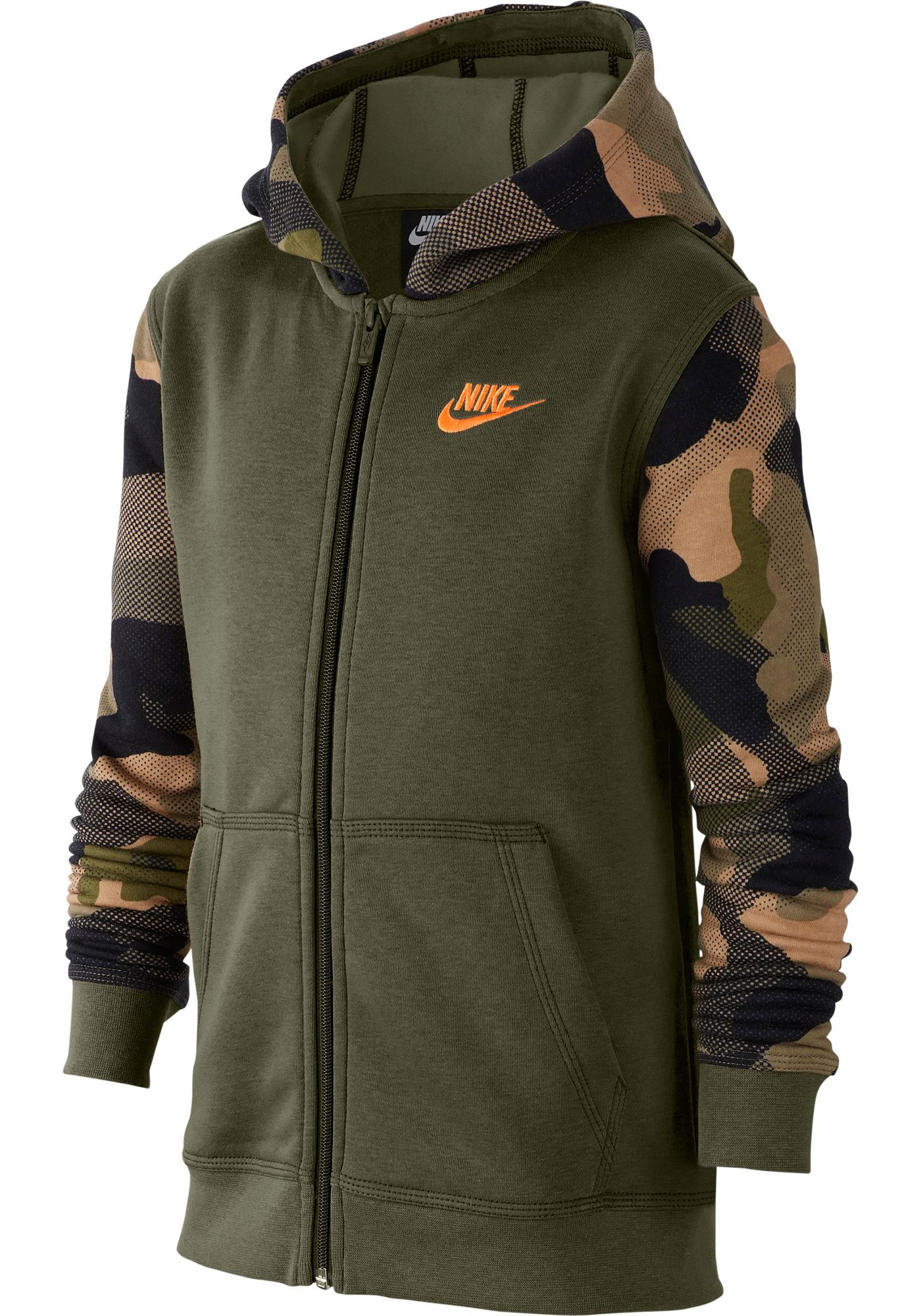 Nike Boy's Sportswear Camo Club Full-Zip Hoodie