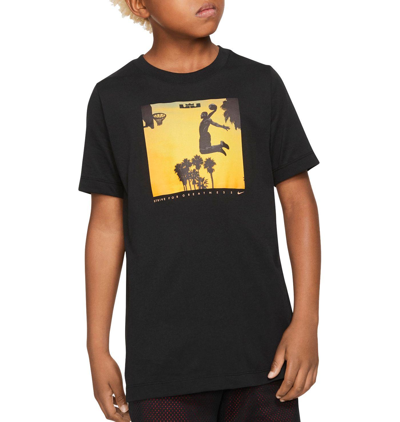 Nike Boys' Dri-FIT LBJ Sunset Dunk Graphic T-Shirt