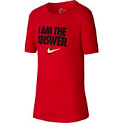Nike Boys' Sportswear I Am The Answer Graphic T-Shirt