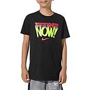 Nike Boys' Sportswear Schooling Starts Now Graphic T-Shirt