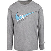 Nike Little Boys' Frozen Swoosh Graphic Long Sleeve Shirt