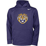 Nike Youth LSU Tigers Purple Therma Fleece Hoodie