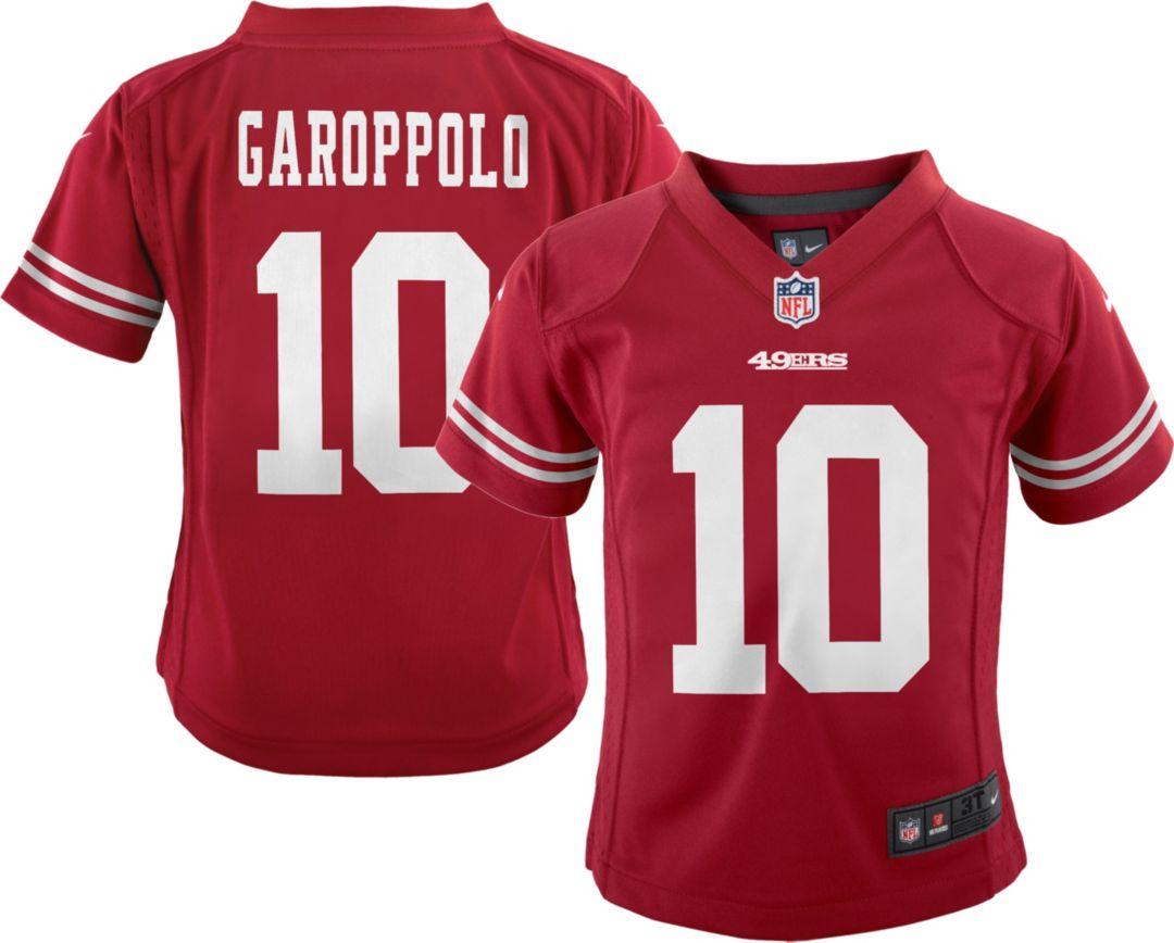 quality design 7cde1 a0175 Nike Boys' Home Game Jersey San Francisco 49ers Jimmy Garoppolo #10