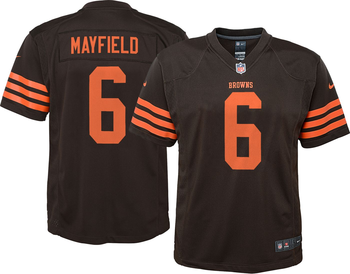 Nike Boys' Color Rush Game Jersey Cleveland Browns Baker Mayfield #6